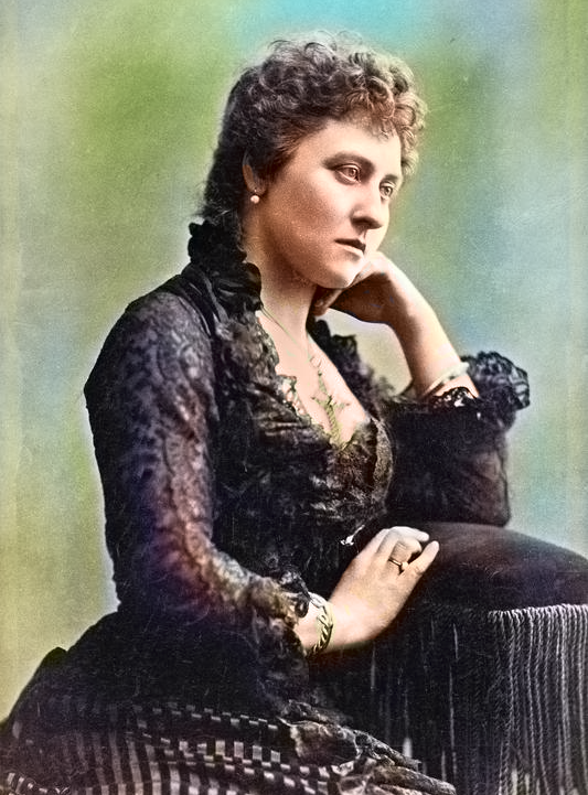 Colourised image of Princess Louise, Duchess of Argyll (1848-1939) This image taken in 1881